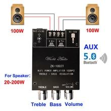 2*100W Dual TPA3116D2 Bluetooth 5.0 HiFi Stereo Audio Digital Power Amplifier Board Tone Home Theater Aux Amp
