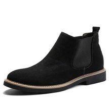 Boots Men High Quality Winter Genuine Leather Cow Suede for Raining Male Comfortable Shoe