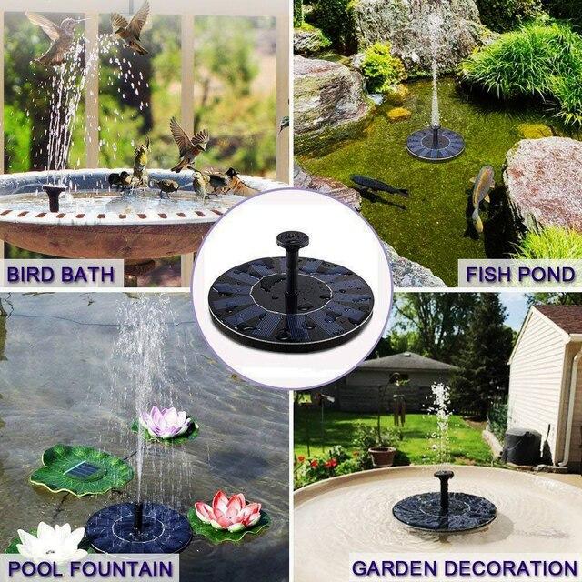 Фото миниатюрный садовый фонтан на солнечной батарее декоративная