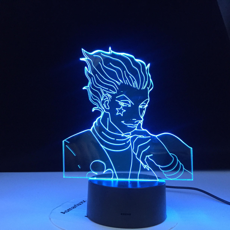 Anime Hunter X Decor Light 3d Lamp Hisoka Gadgets Kids Night Light Gift Led Touch Sensor Colorful Bedroom Nightlight Dropship