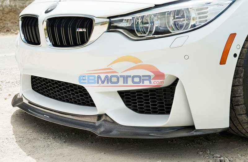 UNPAINTED V Style Front Lip Spoiler For BMW F80 M3 F82 F83 M4 2014UP B256F image