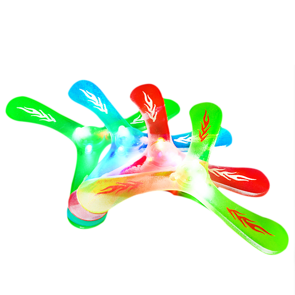 Children's Toys Luminescent Triangular Boomerang Children's Day Flying Gift Outdoor Sports Toys Three Leaf Flying Saucer