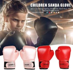 2pcs Professional Boxing Training Fighting Gloves PU Leather Kids Breathable Muay Thai Sparring Punching Karate Kickboxing Glove