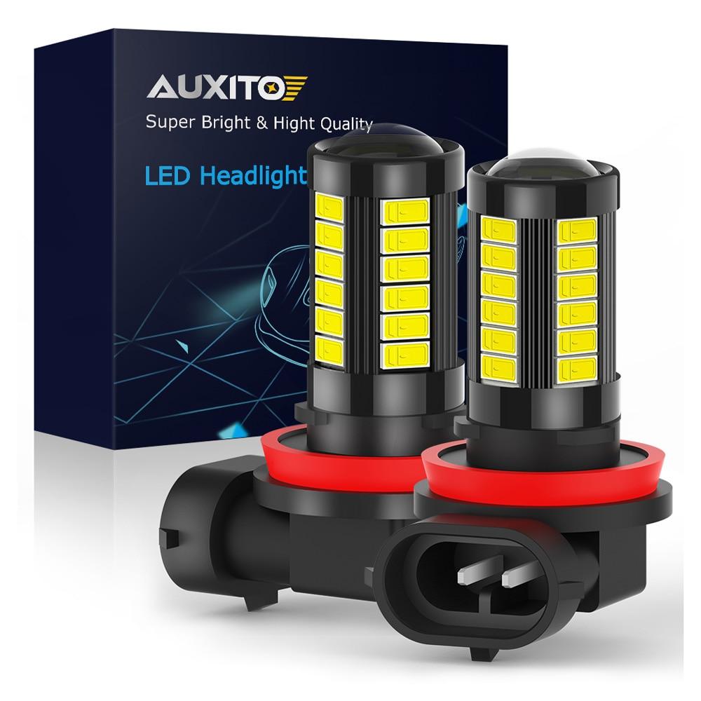 Светодиодсветодиодный Противотуманные фары AUXITO H11 H8 5630 33SMD светодиодный H10 HB3 9005 HB4 9006, 6000 К, белые, 2 шт.