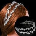Европейские модные повязки на голову, Роскошные Свадебные короны, элегантные головные уборы , свадебная бижутерия для выпускного, тиары с ф...