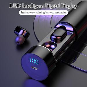 Беспроводные Bluetooth-наушники, 3D стерео музыкальные наушники, спортивные водонепроницаемые наушники-вкладыши, сканер отпечатков пальцев, све...