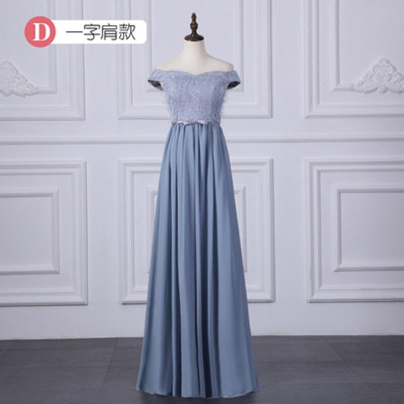Off The Shoulder Sweetheart Blue   Bridesmaid     Dresses   Junior Vestido Largo Sirena Wedding Guest   Dress   Elegant Sister Prom Chiffon