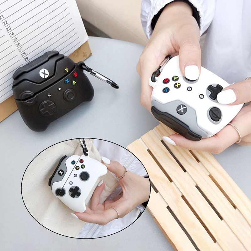 Fashion Classic Retro Game Console Wireless Bluetooth Earphone Case for Airpods Cute 3D gameboy Silicone Headphone xbox Cover