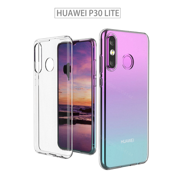 Перейти на Алиэкспресс и купить Чехол для Huawei P30 lite TPU силиконовый прозрачный облегающий Бампер Мягкий чехол для Huawei P30 lite новое издание прозрачная задняя крышка