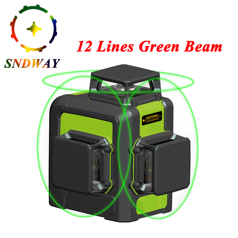<font><b>12</b></font> <font><b>lines</b></font> 8/2 <font><b>Lines</b></font> <font><b>Laser</b></font> <font><b>Level</b></font> Green/Red Beam Vertical and Horizontal High precision <font><b>3D</b></font> Automatic Self Leveling 360 Degree <font><b>level</b></font> image