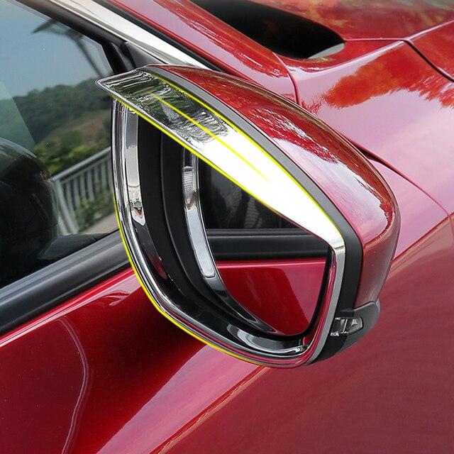 Фото автомобильная наклейка на зеркало заднего вида дождевик для