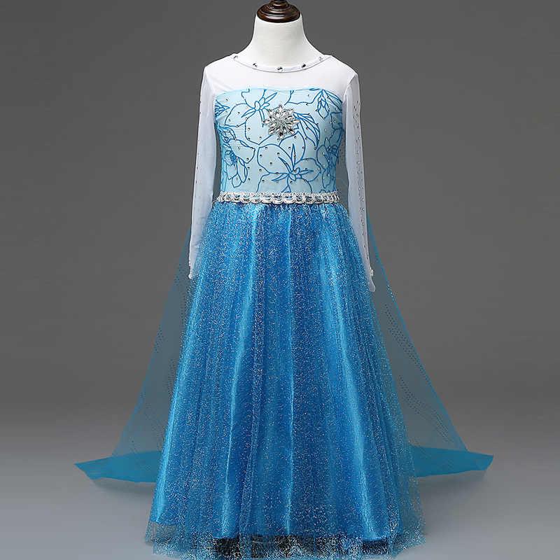 Nieuwe Meisje Prinses Aurora Kostuum Dress Up Kleding Kinderen Off Shoulder Enkellange Doornroosje Halloween Cosplay Jurk