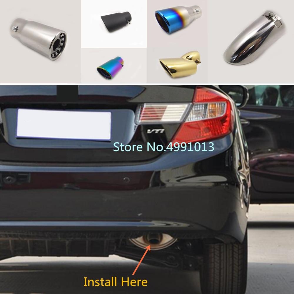 Pour Honda Civic berline 2011 2012 2013 2014 2015 voiture arrière silencieux extérieur fin tuyau consacrer échappement pointe queue sortie ornement 1 pièces