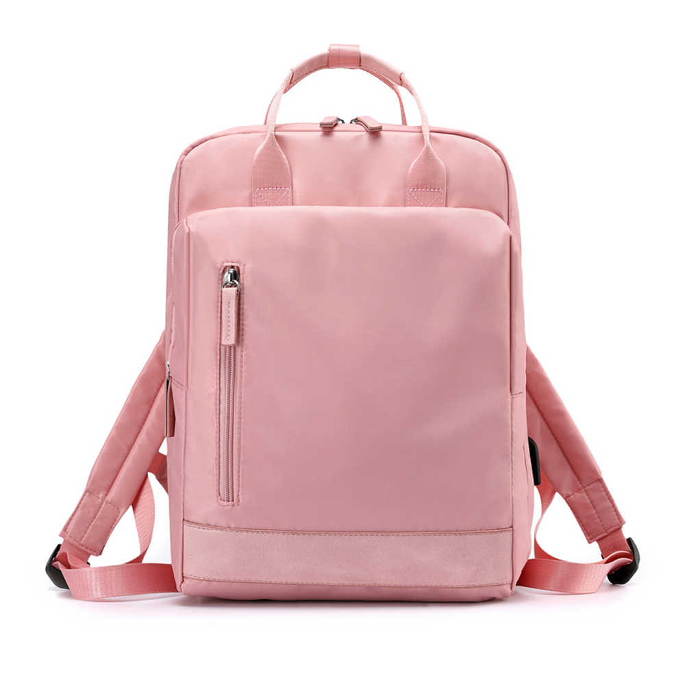 Women Backpacks Female Fashion Backpack Waterproof Bagpack School Laptop Bags For Teenage Girls Travel Bag New Black Pink