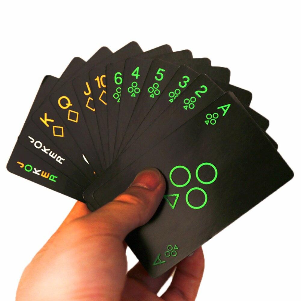 Μαύρη τράπουλα πόκερ φωσφοριζέ msow