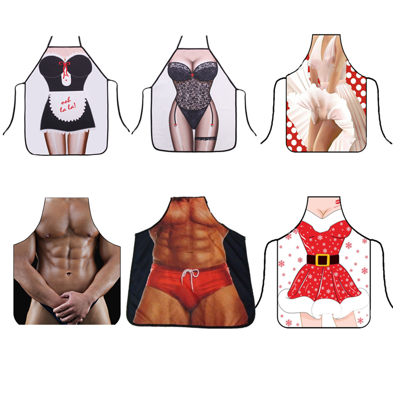 3D Creative Funny <font><b>Kitchen</b></font> <font><b>Apron</b></font> Men Women <font><b>Sexy</b></font> <font><b>Aprons</b></font> Party Cooking Chef <font><b>Apron</b></font> Bibs Pinafore Avental Uniform Home Accessories image