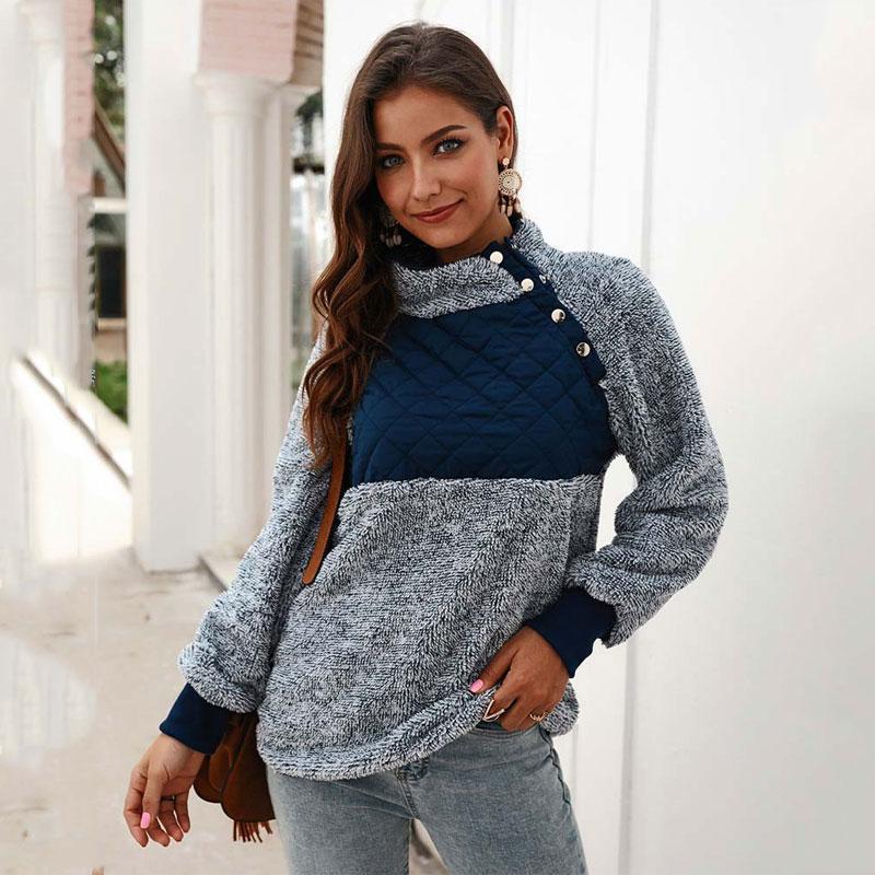 2019 Winter Thick Sweatshirt Women Fleece Turtleneck Sweatshirt Female Warm Sweatshirts Women High Neck Hoody Ladies Pullovers
