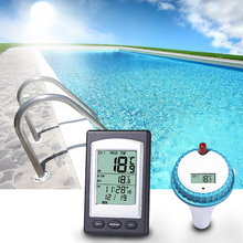 лучшая цена Floating Water Thermometer Wireless Pool or Spa Thermometer with Backlight Display 1Pcs