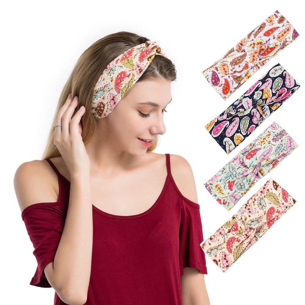 New hot sale hair band women fashion printed stretch headband bohemian holiday leisure hairband Hair accessories in Women 39 s Hair Accessories from Apparel Accessories