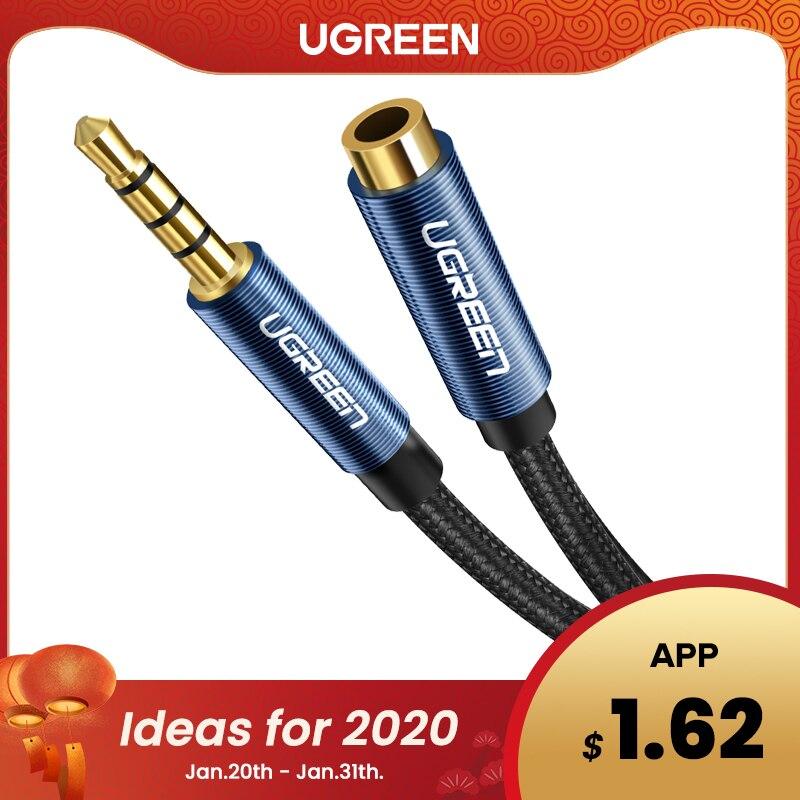 Ugreen Jack 3.5mm câble d'extension Audio pour Huawei P20 lite stéréo 3.5mm Jack Aux câble pour casque Xiaomi Redmi 5 plus PC