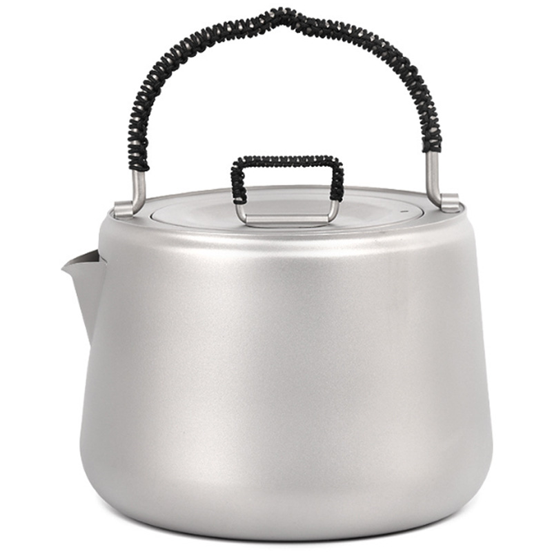1.4L Titanium Tea Pot Ultralight Outdoor Camping Hiking Water Kettle Coffee Pot Teapot Kettle Pot Outdoor Kettle