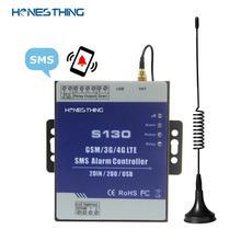 HonesThing GSM SMS 3G 4G إنذار تحكم 2 المدخلات الرقمية مراقبة مستوى المياه خزان مضخة الري الزراعي نظام تلقائي S130