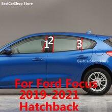 Auto Mittleren Spalte PC Fenster Dekoration Trimmt B Säule Streifen Aufkleber für Ford Focus 2 3 Fließheck Limousine 2021 2020 2019 2012-2018
