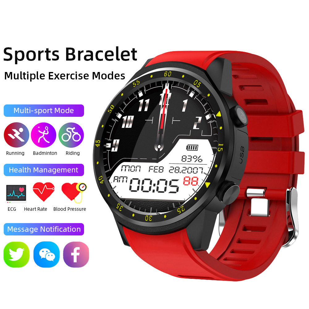 GPS Smart Watch Men Women Compass Altitude Monitoring Heart Rate Step Count Call Alarm Call Reminder Intelligent Round Bracelet