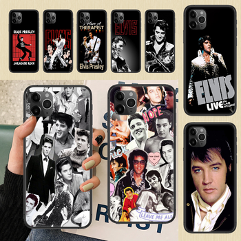 Singer Elvis Presley The King Phone Case Cover Hull For iphone 5 5s se 2 6 6s 7 8 12 mini plus X XS XR 11 PRO MAX black luxury image