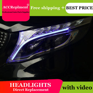 Image 5 - לנץ Metris 2016 2019 פנסים כל LED פנס DRL דינמי אות Hid ראש מנורת Bi קסנון קרן אבזרים רכב סטיילינג