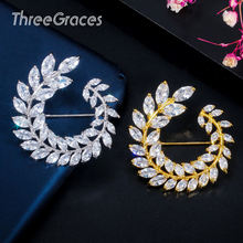 Threegraces Блестящий лист оливковой ветви 18 К Золото Серебро