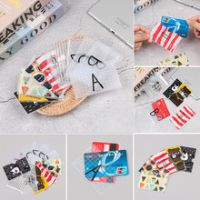 Cute Cartoon Bank Credit Card ID Cards Protective Cover PVC Translucent Frosted Card Holder Protector Case For Girls(China)