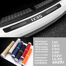Автомобильная наклейка на задний бампер для Hyundai Accent Elantra Tucson Solaris Sonata Santafe Veloster Genesis Azera GDI ix20 и т. д. аксессуары