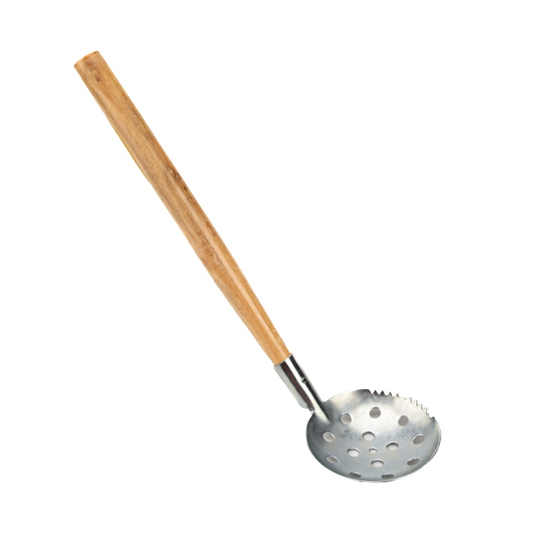 Ice Scoop Skimmer With Wood Handle Metal Outdoor Ice Fishing Tackle Tool Accessories
