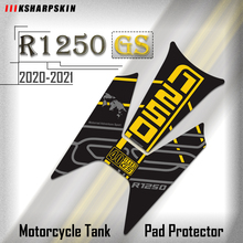 For BMW R1250GS 2020 2021 R 1250GS R1250 GS R 1250 GS Motorcycle Stickers Fuel Tank 3D Rubber Sticker Fishbone Protective Decals