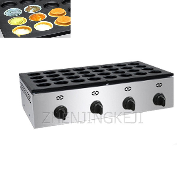 Commercial Red bean Cake Machine Electro-thermal Gas 32 Holes Round Scones Tool Wheel Cake Making Appliances Cooking Machine