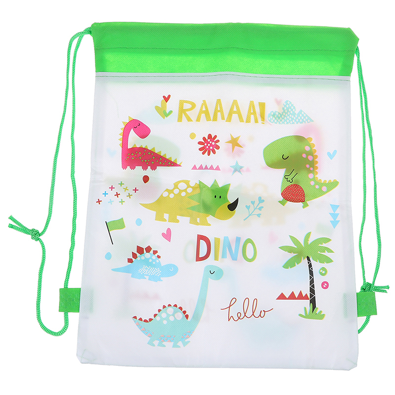 5PCS Cartoon Dinosaur Drawstring Bags Backpack Baby Clothes Clothings Laundry Bag Children Organizer Pouch