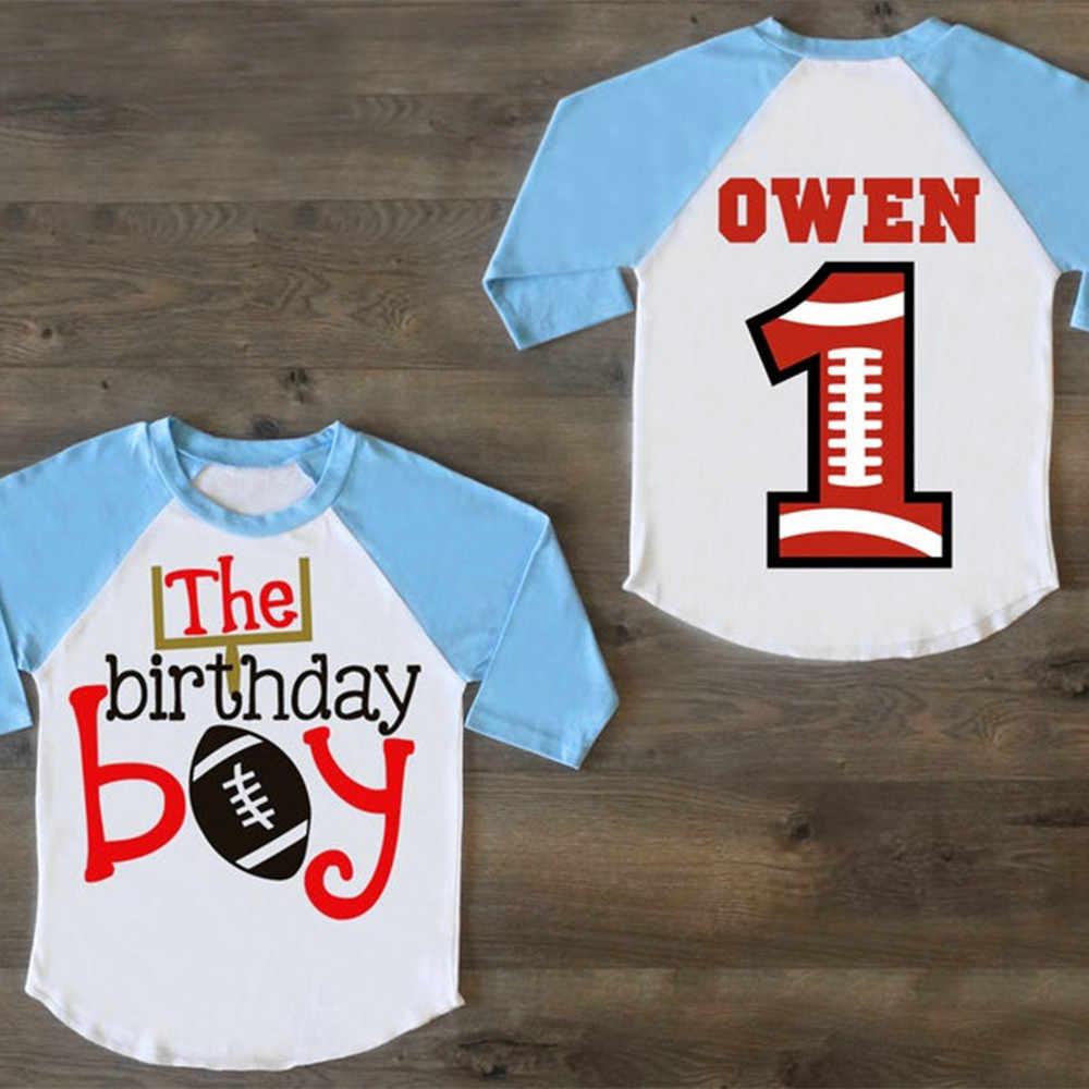 Personalized Football Birthday Boy Shirt First Birthday Shirt One Birthday Outfit First Birthday Raglan 1st Birthday Shirt Party Favors Aliexpress