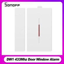 Sonoff RF köprü 433Mhz RF PIR 2 hareket sensörü DW1 kapı ve pencere Alarm sistemi Alexa Google ev akıllı ev Alarm güvenlik