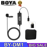 BOYA BY DM1 Lavalier Microphone for iOS iPhone Xs Xr 8 7 SE 6S iPad Pro Air mini 2 iPOD TOUCH MFi Certified Lightning Connector