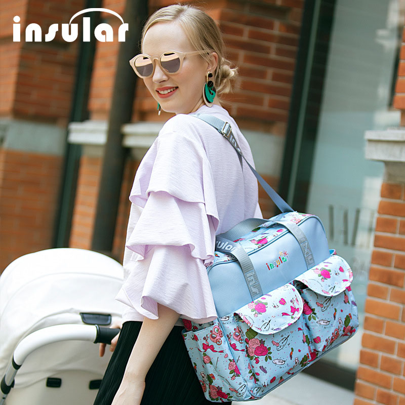 INSULAR Baby Diaper Bags Maternity Multi-Function Messenger Bag Fashion Maternal And Infant Bag Portable Maternity Bag Large