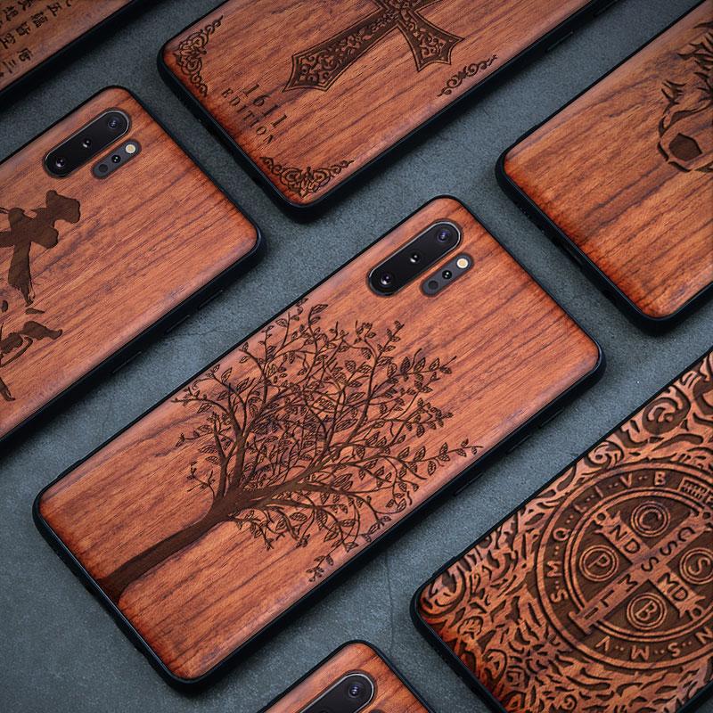 Cep telefonları ve Telekomünikasyon Ürünleri'ten Takılır Kılıflar'de Ahşap samsung kılıfı Galaxy S9 S10 artı not 9 8 10 artı ahşap telefon iphone için kılıf 11 Pro Max X XR XS max 8 7 6 6S 8 artı title=