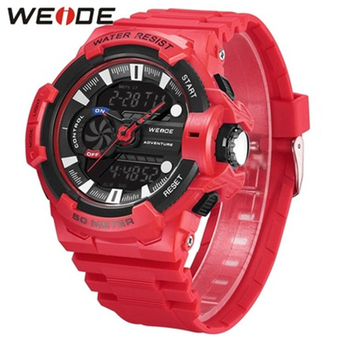 WEIDE Men Watch Digital Sports Watch Waterproof Clock Alarm Date Relogio Masculino Analog Digital Military Quartz Men's watches men s army military watch man quartz clock relogio masculino luxury brand men analog digital leather sports watches