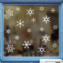Kreative schnee weiße schneeflocke wand aufkleber kinder zimmer shop fenster home decor frohe weihnachten wand decals vinyl wandbild kunst(China)