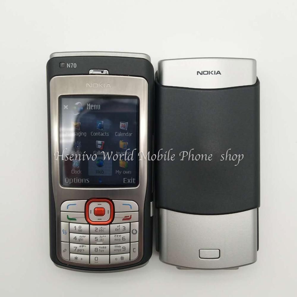 Original Unlocked Nokia N70 Phone 2..1'inch FM Radio Bluetooth Symbian OS With Arabic Keyboard Free shipping