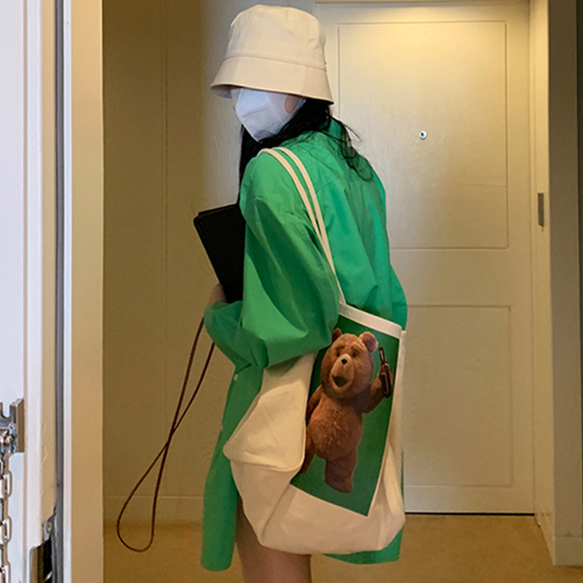 [EWQ] Korean Chic Spring Temperament Light Green Shirt Coats Women Loose Casual Blouse Turn-down Collar Blouse 2021 Summer 4