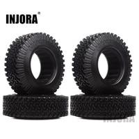 INJORA 4PCS 98MM 1.9 Rubber Wheel Tires for 1:10 RC Rock Crawler Axial SCX10 AXI03007 D90 TF2 Tamiya CC01 1.9 Inch Tyres 1