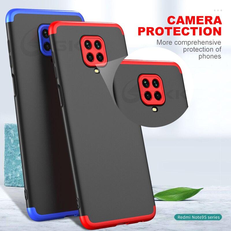 360 Degree Full Case Cover For Xiaomi Redmi Note 9 Pro Max 9S Anti-Fall Protection Hard Matte Cases For Redmi Note 9 10X Pro