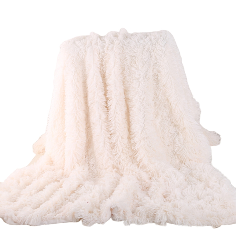 Elegant Throw Blanket For Bed Sofa Large Size 160x200cm Long Shaggy Soft Warm Bedding Sheet Christmas Gift