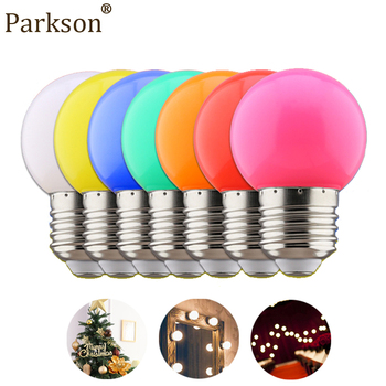 Colorful LED Bulb Lamp 1W E27 220V Wedding Christmas Door Decoration Lamp Bulb 230V 7 Colors Bedroom Night Light Indoor Lighting image